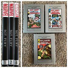 Sgt. Fury and His Howling Commandos Marvel Masterworks HC Set 1 2 4 SHIELD nick