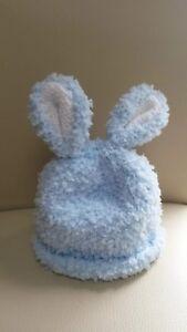 baby blue bunny hat