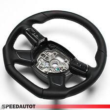 Tuning Abgeflacht Schwarz Lenkrad Audi A1, A6, A7, MULTI 4G0 4H0 ROT 4-Speich