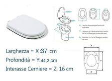 COPRIWATER COPRIWC SEDILE MOD. ARETUSA CESAME LACCATO BIANCO cm.37x 44,2x16