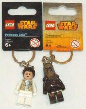 LEGO 850997 Princess Leia 853451 Chewbacca key chain Star Wars keychains lot