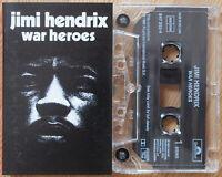 JIMI HENDRIX - WAR HEROES (POLYDOR 8472624) 1991 EUROPE CASSETTE TAPE EX!