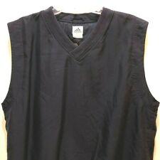 New listing Adidas Men's Large Dark Blue Climashell Wind V Neck Golf Vest L