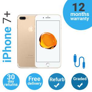 Apple iPhone 7 Plus + Refurbished Unlocked 32GB 128GB 256GB Cheap Bargain Used
