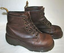 Dr Martens Vintage Eyelet Brown Leather Boots UK Size 4 Womens 6 Made in England