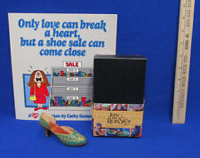 Just The Right Shoe 1999 Carved Heel # 25096 w/ Box & A Cathy Collection Book