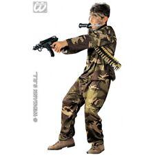 COSTUME MIMETICO SPECIAL FORCE SOLDATO MILITARE BAMBINO 8/10 ANNI