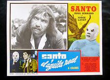 """SANTO Y EL AGUILA REAL"" IRMA SERRANO JORGE LAVAT N MINT LOBBY CARD PHOTO 1971"