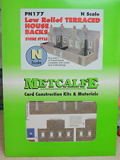New Metcalfe PN177 N Scale Low Relief Stone Terraced House Backs