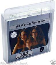 49mm Video Camera 3 Face Circular Mirage Effect Filter