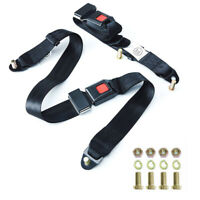 1 Pack 3 point 3 Point Adjustable Seat Safety Belt Harness Kit Single Double Seat Lap Seatbelt Universal for Go Kart UTV Buggie Club Vehicle Truck
