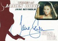 James Bond Women of James Bond in Motion Jane Seymour Autograph Card WA14