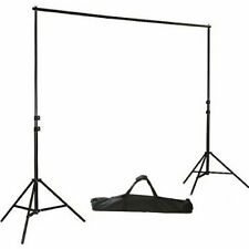 10ft x 8ft Black Backdrop Stand Kit Photo Background Wedding Party Decorations