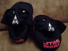 New Star Wars Darth Vader Youth Kids Boys Black Plush House Slippers Size 9/10