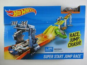Hot Wheels Super Start Jump Race Track Set Playset DAMAGED BOX
