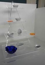 Piramide buffet plexiglass trasparente Misura L 470 P 360 H 630 mm cod.100.M044
