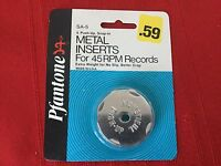 Vintage Metal inserts for 45 RPM records - six in a pack Unopened Package