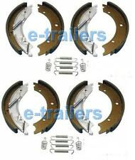 "TRAILER BRAKE SHOES 203x40 FITS KNOTT IFOR WILLIAMS BRIAN JAMES 8"" DRUM x2"