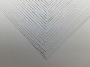 """White Craft Paper Card 160gsm 12"""" x 12"""" Superior Scrapbooking 50 Sheets"""