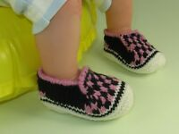 KNITTING INSTRUCTIONS-BABY CHECK DECK SHOES SLIPPERS BOOTIES KNITTING PATTERN