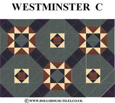 DOLLS HOUSE MINIATURES,DOLLS HOUSE TILES &.FLOORING.WESTMINSTER (C) FLOOR TILES
