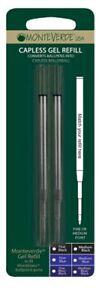 2 x Montblanc Compatible Medium Gel Refill BLUE BLACK