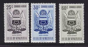 Venezuela Sc C539/542 MNH. 1953-54 Air Posts, 3 diff VF