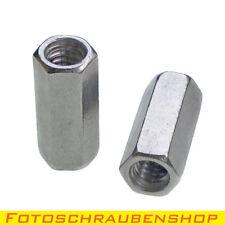 """2x ¼""""-Edelstahl-Verlängerungsmutter (Adapter Zoll-Zoll, Kupplung 1/4""""-1/4"""")"""