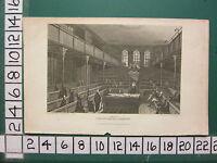 1815 Fecha Antigüedad Londres Estampado ~ Interior Del Casa De Comunes