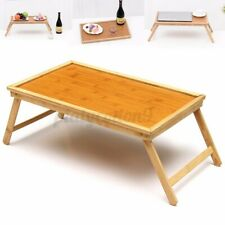 Wooden Bamboo Bed Tray Foldable Breakfast Laptop Home Desk Serving Table