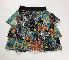 La vie en rose gonna minigonna L tg 44 usata floreale estiva skirt falda T1968