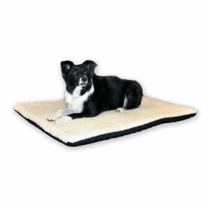 """K&H Pet Products Ortho Thermo Pet Bed Large White / Green 24"""" x 37"""" x 3"""""""