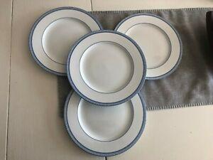 Ralph Lauren Macao White & Blue Porcelain Dinner Plates Set of Four New