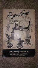 GE General Electric Consumers Institute Frozen Foods Book Vintage Bridgeport, CT