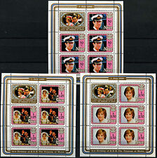 Niue 1982 SG#454-6 Princess Of Wales 21st Birthday MNH Sheetlets Set #D38016