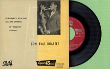 DON BYAS QUARTET / I'm Beginning To See ... PATHE EG 171 Press France 1955 EP EX