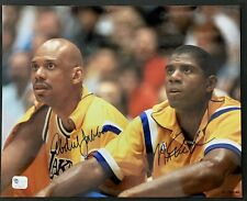 Magic Johnson & Kareem Abdul Jabbar Signed 8x10 Photo Autographed GA COA