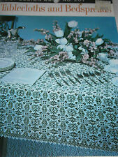 Vintage Lily Design Tablecloths & Bedspreads Crochet Pattern Book #207 Tea Cloth