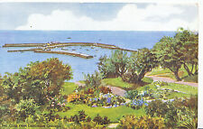 Dorset Postcard - The Cobb from Langmoor Gardens    A5140