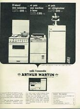 B- Publicité Advertising 1965 Cuisinière Machine à laver Arthur Martin