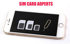 5pcs/lots Nano SIM Card Adapter to Micro Standard Convertercs Set Fit iPhone 5 4