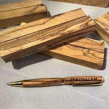 120~PREMIUM QUALITY~BETHLEHEM Figured Olive Wood Pen Turning Blanks BULK USA