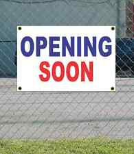 2x3 OPENING SOON Red White & Blue Banner Sign NEW Discount Size & Price