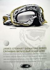 OAKLEY moto-x 2008 JAMES BUBBA STEWART poster ~NEW old stock MINT condition~!!