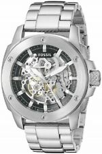 Fossil ME3081 Modern Machine Automatic Skeleton Dial Silver Band 50mm Men Watch