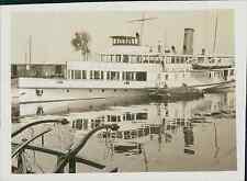 Allemagne, Constance, Konstanz , Bateau à Vapeur sur âme Lac Vintage print, Phot