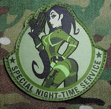 SPECIAL NIGHT TIME SERVICE US ARMY USA MULTICAM MORALE BADGE HOOK PATCH