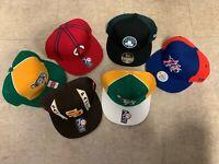 NBA NFL MLB Fitted Baseball Caps, Size 7, Reebok and New Era Original
