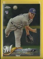 Brandon Woodruff RC  2018 Topps Chrome Rookie Card # 179  Milwaukee Brewers