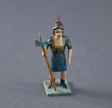 Grulicher Krippenfigur, Torwächter - Holz geschnitzt  > 7 cm <   (# 7481)